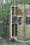 Vue de côté d'un abat-jour de chasse étant réuni Images libres de droits