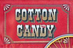 Vue de côté de chariot de sucrerie de coton Image stock