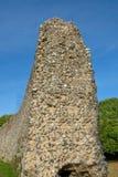 Vue de côté de mur normand antique de château Photographie stock libre de droits