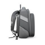 Vue de côté de sac à dos noir illustration de vecteur