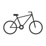 vue de côté de vélo noir, graphique Photographie stock libre de droits