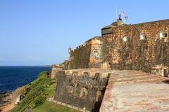 Vue de côté Del Morro Photos libres de droits