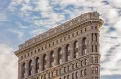 Vue de côté du bâtiment de fer à repasser à New York City photographie stock libre de droits