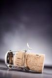 Vue de côté sur le liège avec le fil en métal Image libre de droits