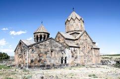 Vue de côté du monastère avec la tour de cloche Ovanavank Image stock