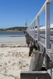 Vue de côté Victor Harbor Jetty, péninsule de Fleurieu, sud austral Photos libres de droits