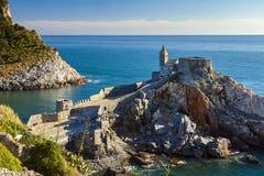 Vue de côte de Portovenere Image libre de droits