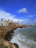 Vue de Cadix, Espagne Images libres de droits