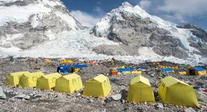 Vue de camp de base du mont Everest Photo libre de droits