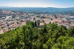 Vue de Campobasso du château Image libre de droits