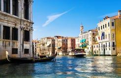 Vue de canal grand de Venise images stock