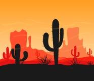 Vue de canyon de désert Photo libre de droits