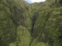 Vue de canyon de Waimea sur la côte de Na Pali, île de Kauai, Hawaï Image libre de droits