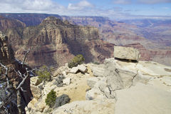 Vue de canyon grand Photos libres de droits
