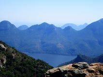 Vue de canyon de rivière de Blyde sur le lac images stock