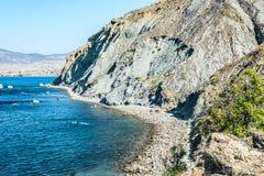 Vue de cap Meganom en Crimée photos libres de droits