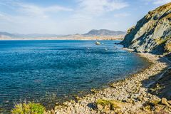 Vue de cap Meganom en Crimée photos stock