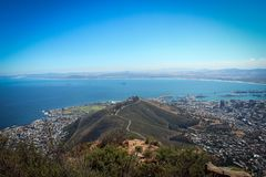 Vue de Cape Town de tête du ` s de lion photo stock