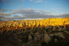 Vue de Cappadocia de lumière et d'ombre Image stock