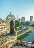 Vue de Carthagène de fort espagnol colonial Image stock