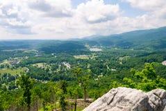 Vue de Caryville Tennessee d'un Ridge Photo libre de droits