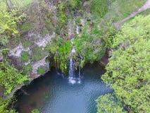 Vue de cascade à partir de dessus vers le bas image stock