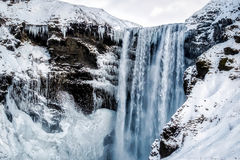 Vue de cascade de Skogafoss Images stock