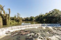 Vue de cascade de ville de Timbo, Santa Catarina Image stock