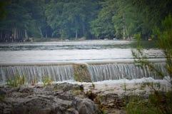 Vue de cascade en parc d'état Photographie stock libre de droits