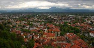 Vue de castel de Ljubljana Photographie stock