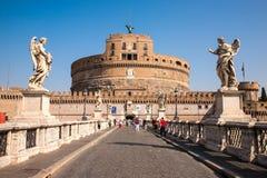 Vue de Castel Sant ' Angelo de l'avant Image libre de droits