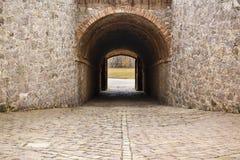 Vue de Castillo de Montjuic sur la montagne Montjuic à Barcelone, photos stock