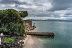 Vue de Castillo San Felipe del Morro Photographie stock libre de droits