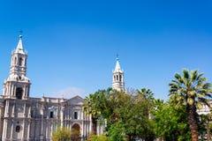 Vue de cathédrale d'Arequipa images stock