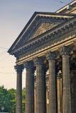 Vue de cathédrale d'icône de Kazan dans la ville de St Petersburg, Russie Images libres de droits