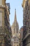 Vue de cathédrale de Barcelone Photo libre de droits