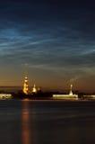 Vue de cathédrale de Peter et de Paul, St Petersburg, Russie dans W Photographie stock libre de droits
