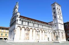 Vue de cathédrale médiévale San Michele Lucques Photo libre de droits