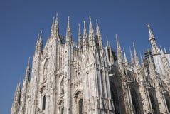 Vue de cathédrale de Milan photo stock