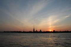 Vue de Cathendral de St Petersburg Photo stock