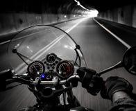 Vue de cavalier de moto photos stock