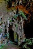 Vue de caverne de Callao de la 1ère entrée de chambre avec des formations de stalactites et de stalagmites images stock