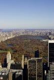 Vue de Central Park du toit de la construction de rockefeller Image libre de droits