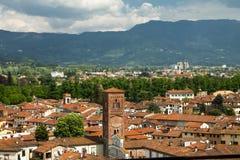 Vue de centre de la ville de Lucques Image libre de droits