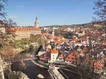 Vue de Cesky Krumlov dans la République Tchèque photographie stock