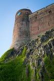 Vue de château de Bamburgh, le Northumberland, R-U photographie stock libre de droits