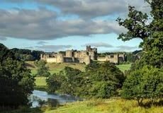 Vue de château d'Anwick Photographie stock libre de droits