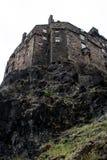 Vue de château d'Edimbourg image stock