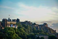 Vue de château d'Edimbourg Images libres de droits