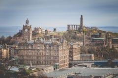 Vue de château d'Edimbourg, Ecosse photo libre de droits